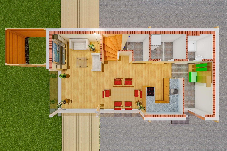 Grundriss Sankt Pantaleon Einfamilienhaus - EG