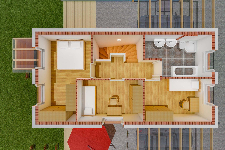 Grundriss Sankt Pantaleon Einfamilienhaus - OG